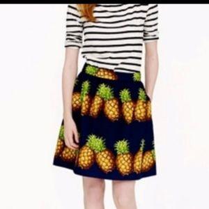 J Crew pineapple skirt